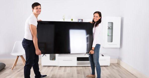 move flatscreen tv
