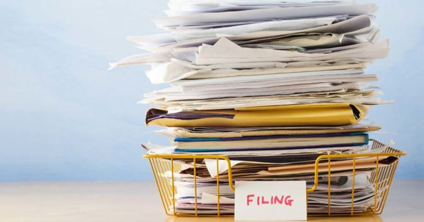 filing and storing documents
