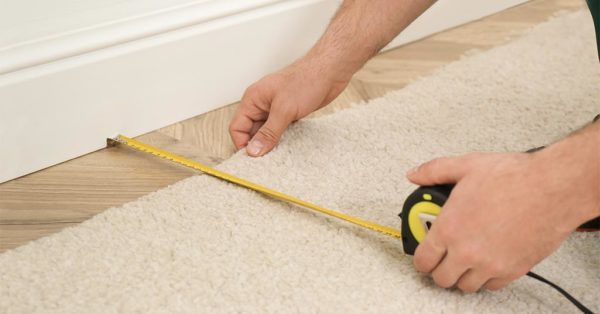how to cut a carpet to fit space